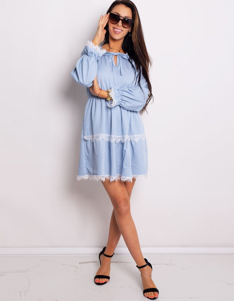 Pekné modré dámske šaty ASHLEY (ey0758)