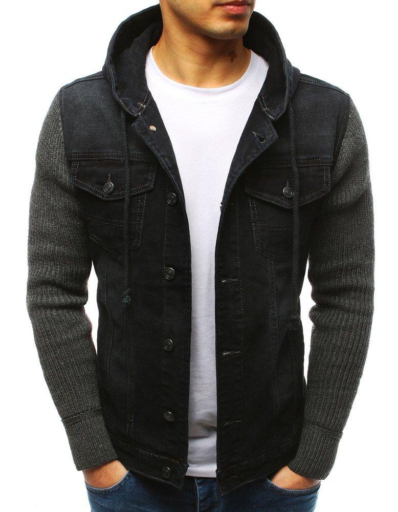 Čierna džínsová bunda (tx2613)