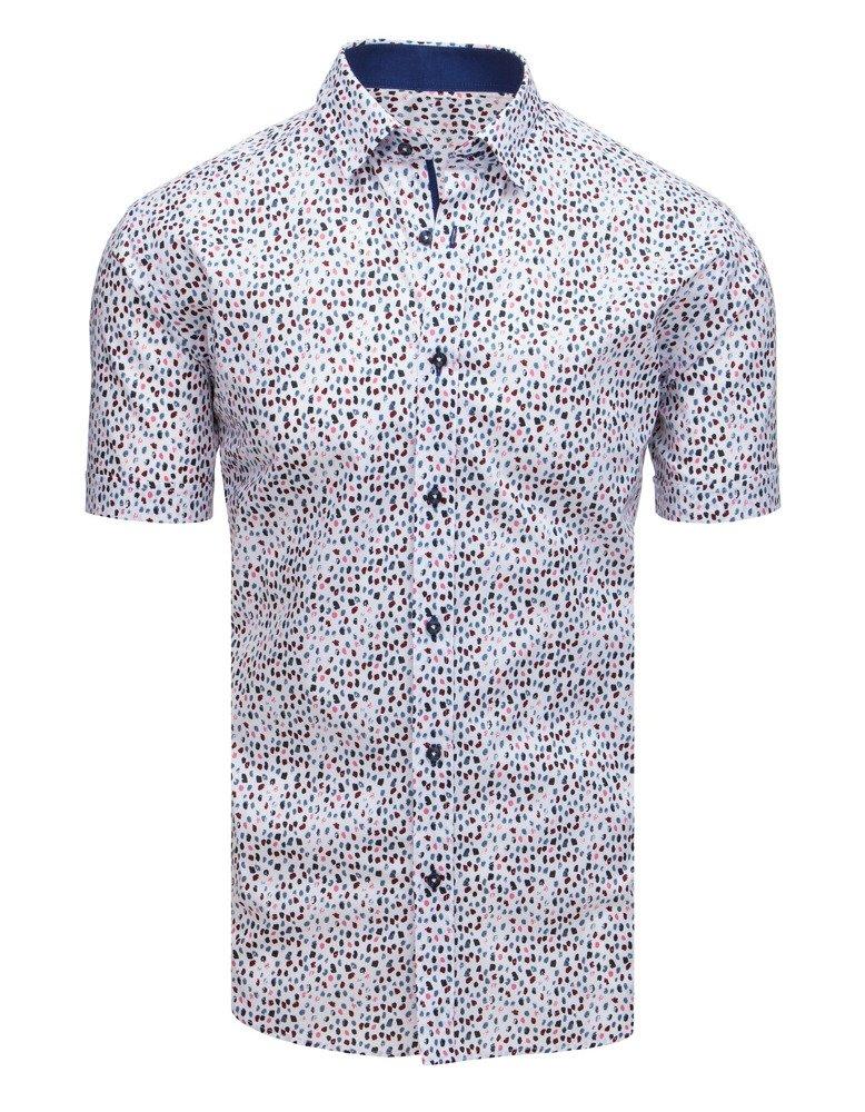 Vzorovaná pánska košeľa s krátkym rukávom (kx0876)