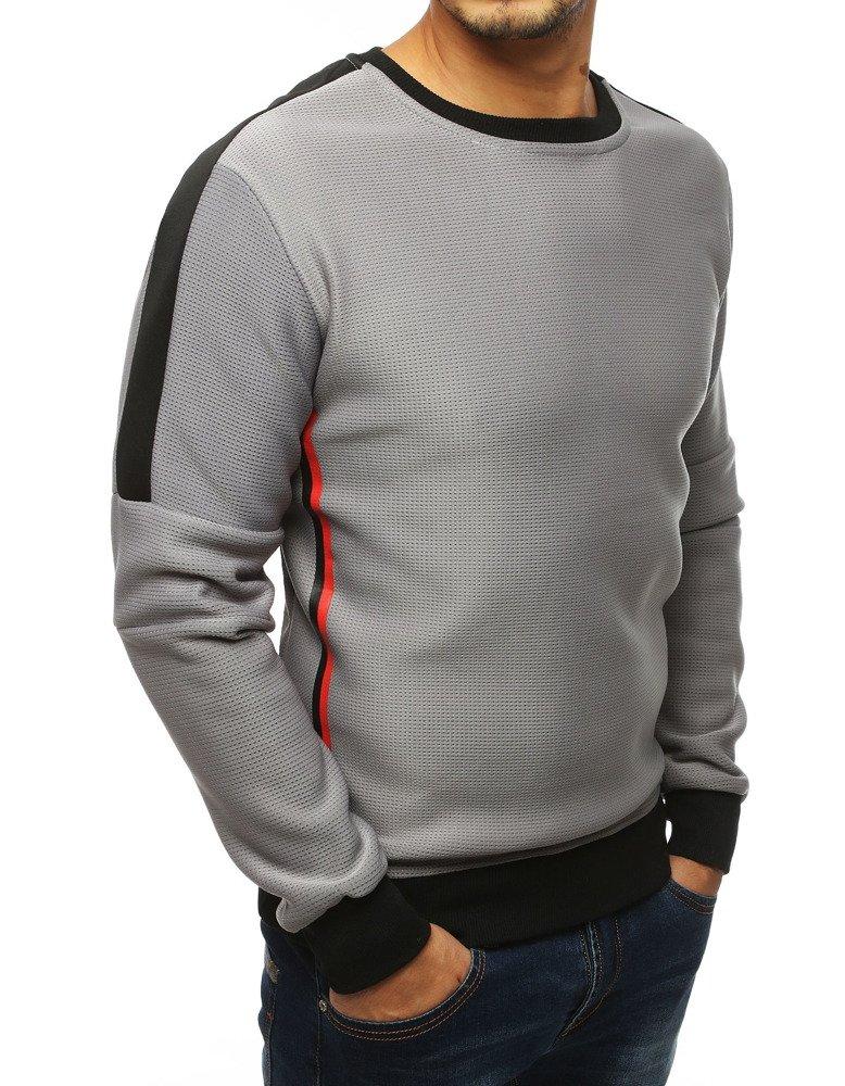 Bluza męska bez kaptura jasnoszara BX4107