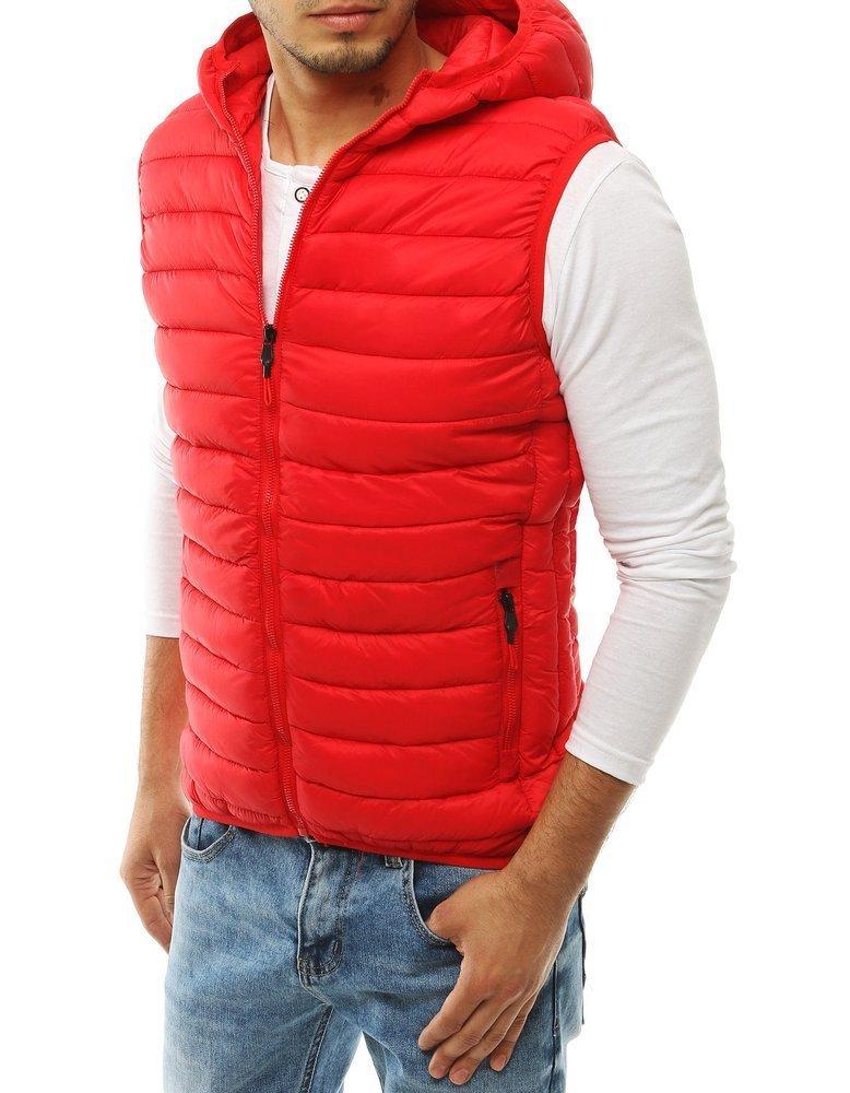 Pánska červená vesta s kapucňou TX3299