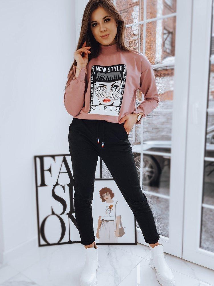 Bluza damska RONNIE różowa BY0731