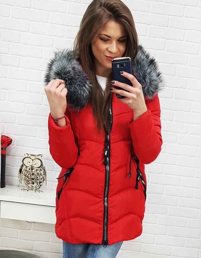 Krásna červená zimná dámska bunda (ty0516)