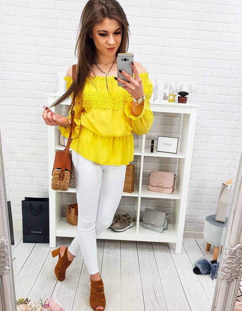Bluzka damska PENNY żółta (ry0686)