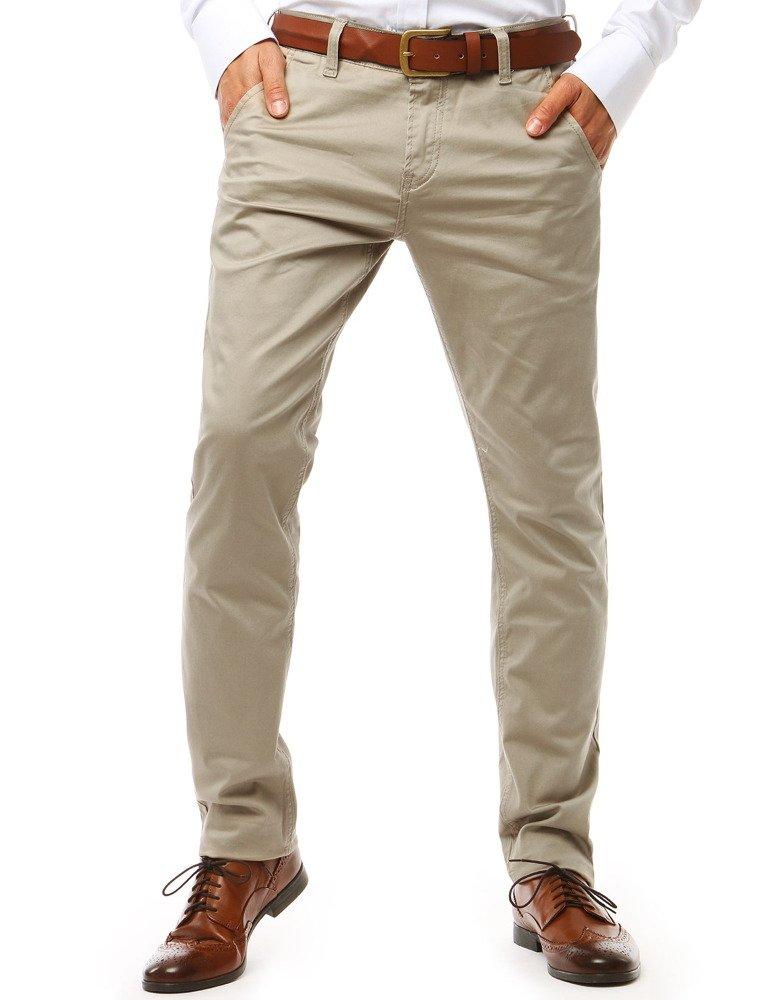 Pánske nohavice svetlo bežové