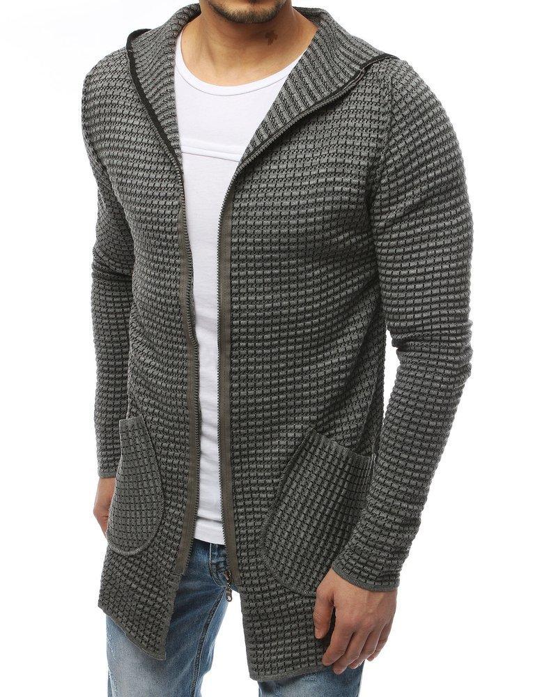 Pánsky svetlo šedý sveter