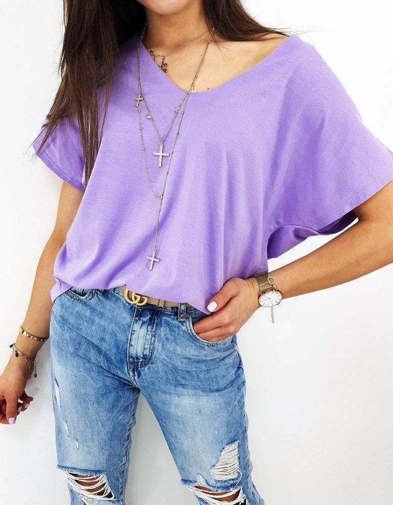 T-shirt damski BOLANA lila RY1511