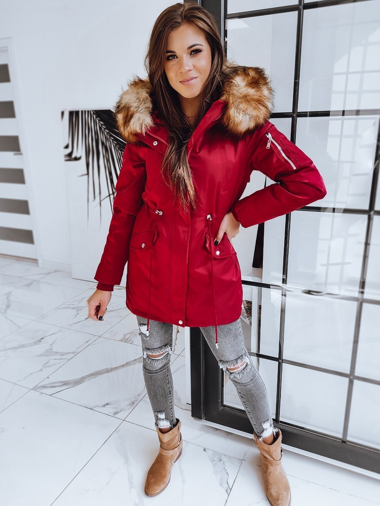 Parka damska zimowa COTOFINO 2w1 czerwona TY1433