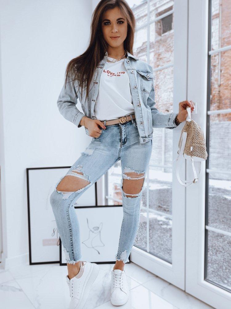 Kurtka damska jeansowa oversize AKRA niebieska Dstreet TY1669