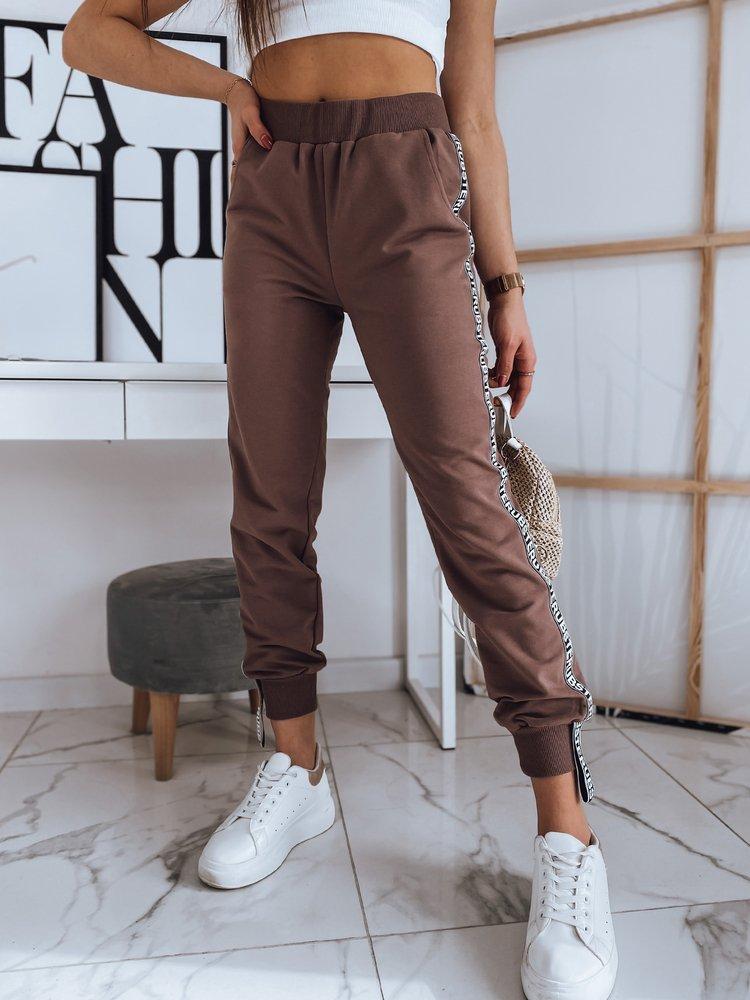 Spodnie damskie ROSWELL brązowe UY0766