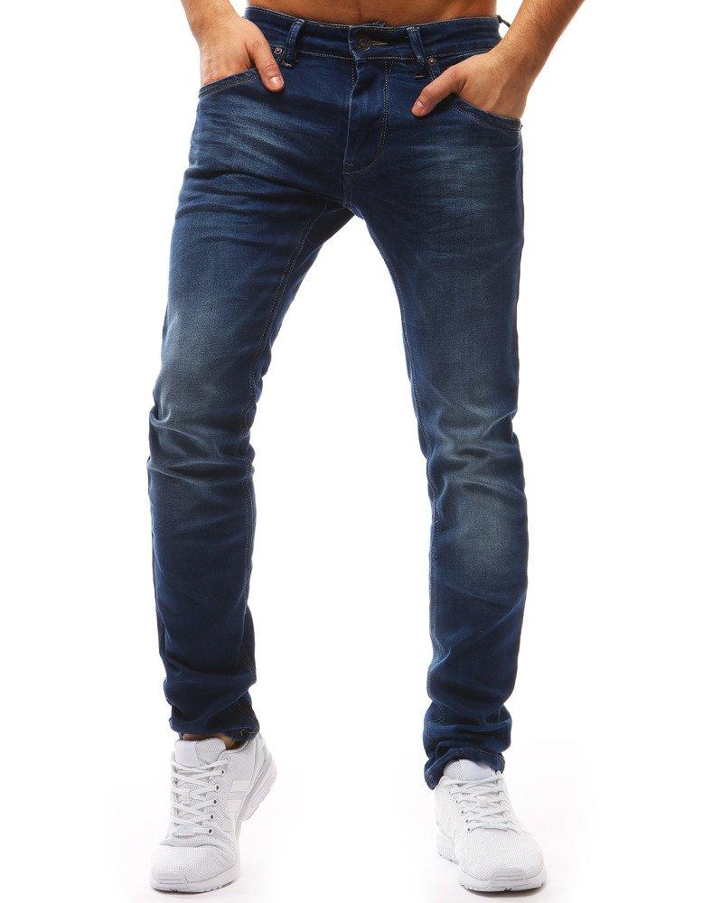 Spodnie jeansowe męskie niebieskie UX1204
