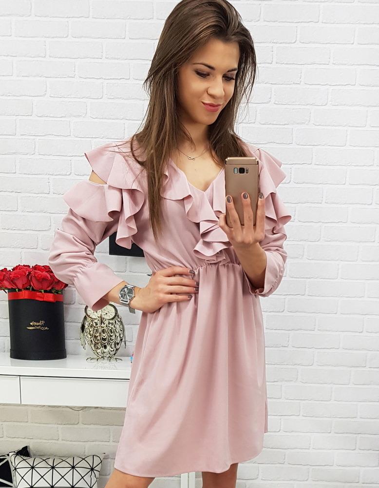 Ružové dámske šaty (ey0587)