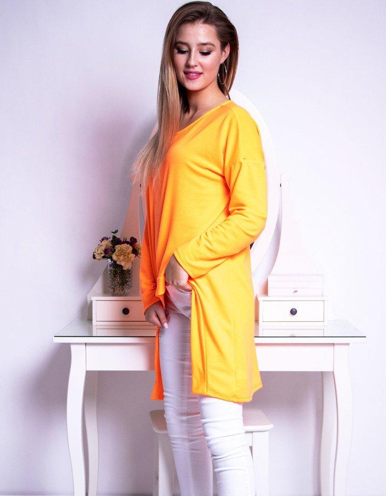 Bluzka damska LOOK neonowy pomarańczowy RY0617