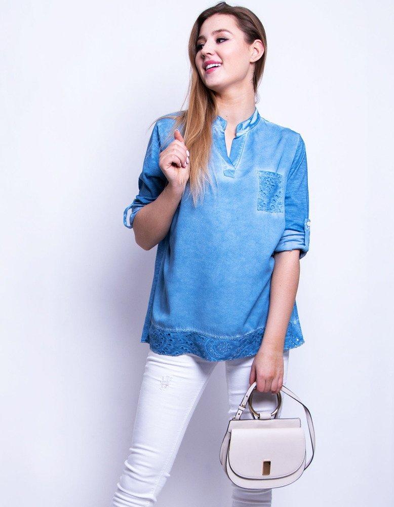 Bluzka damska LADY niebieska (ry0627)