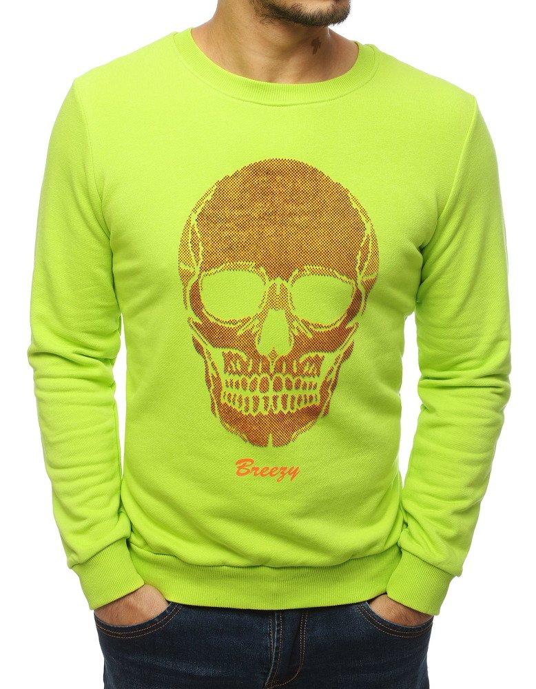 Bluza męska z nadrukiem zielona BX4220