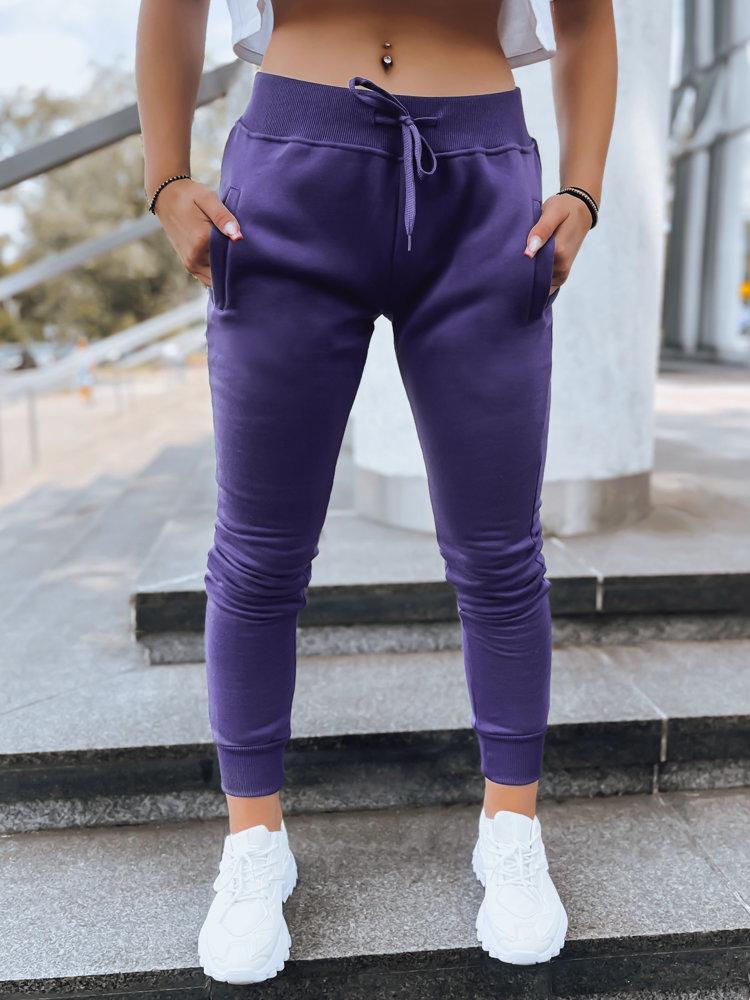 Spodnie damskie dresowe FITS fioletowe UY0581