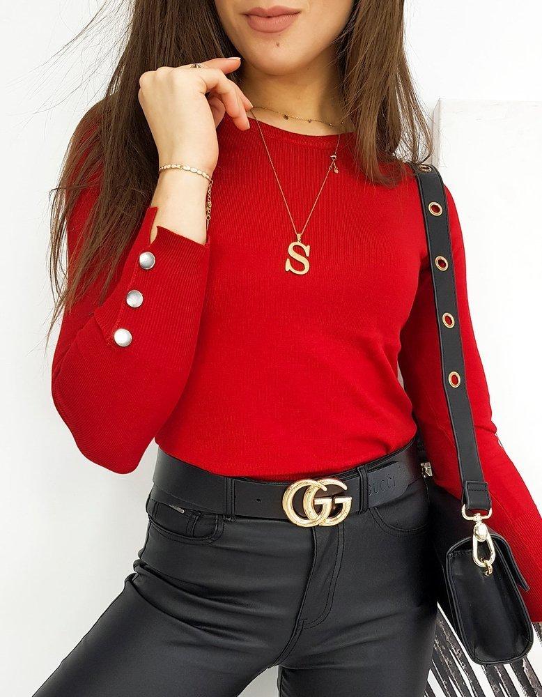 Sweter damski VIA czerwony MY0900
