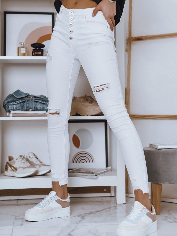 Spodnie damskie jeansowe VINNE białe Dstreet UY0778