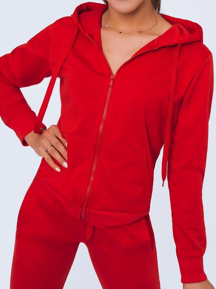 Bluza damska dresowa LARA III czerwona Dstreet BY0967