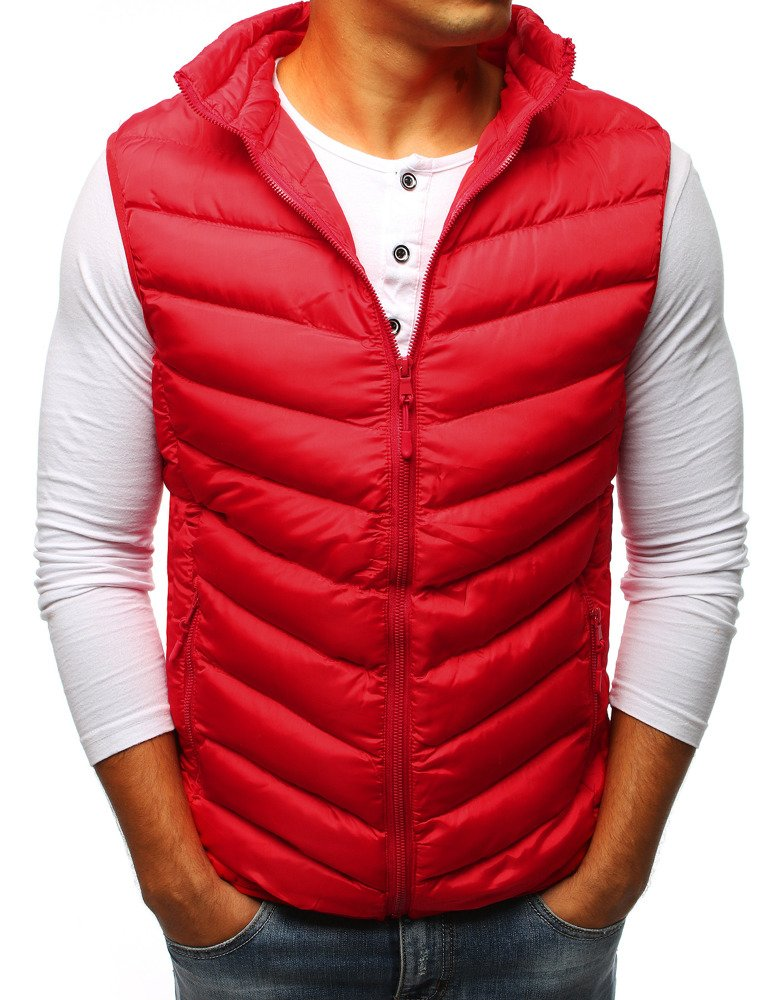 Pánska vesta červená