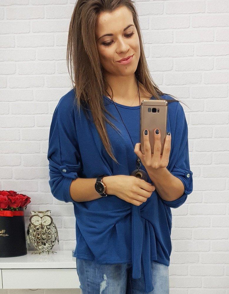 Modrý dámsky sveter (ry0422)