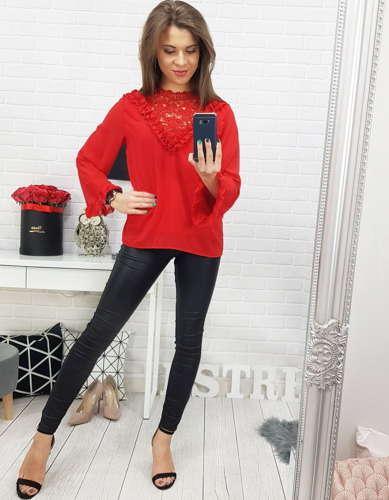 Bluzka damska MELLA czerwona RY0564