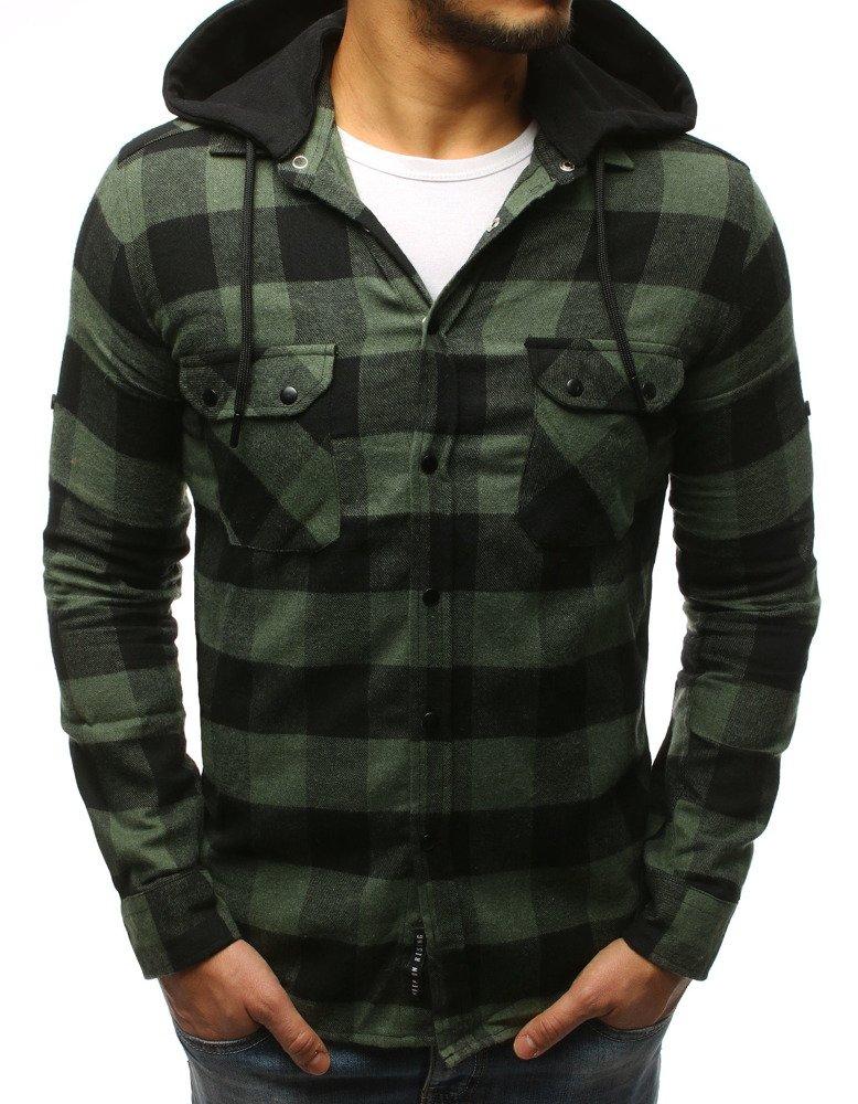 Pánska košeľa čierno-zelená