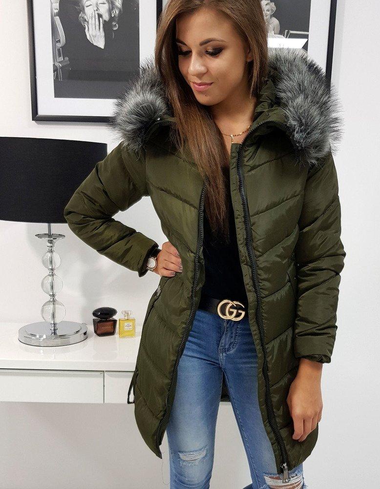 Zimná khaki dámska bunda CARAT (ty0772)