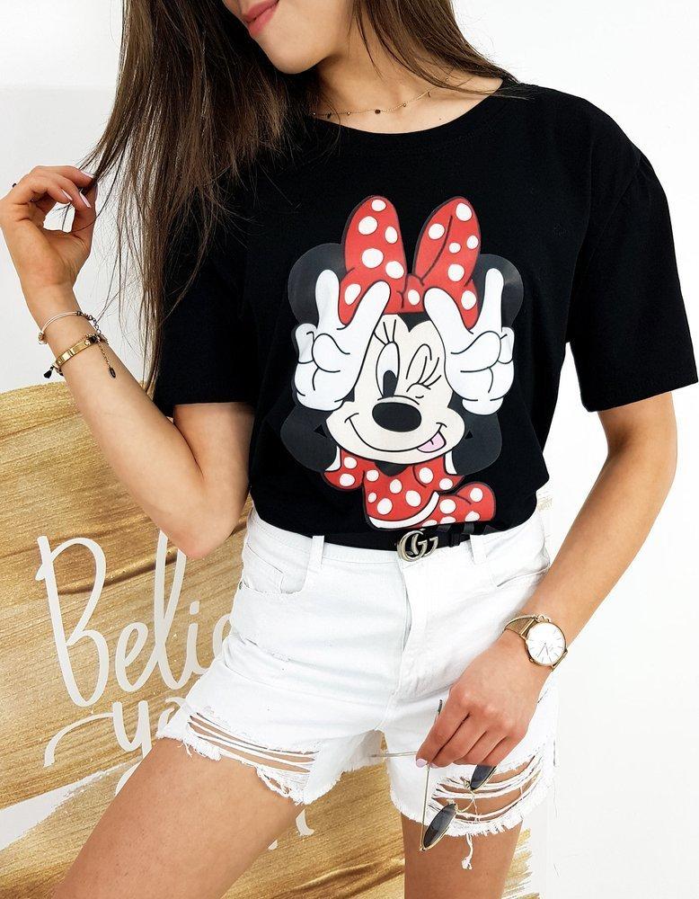 T-shirt damski MINNIE PEACE czarny RY1521