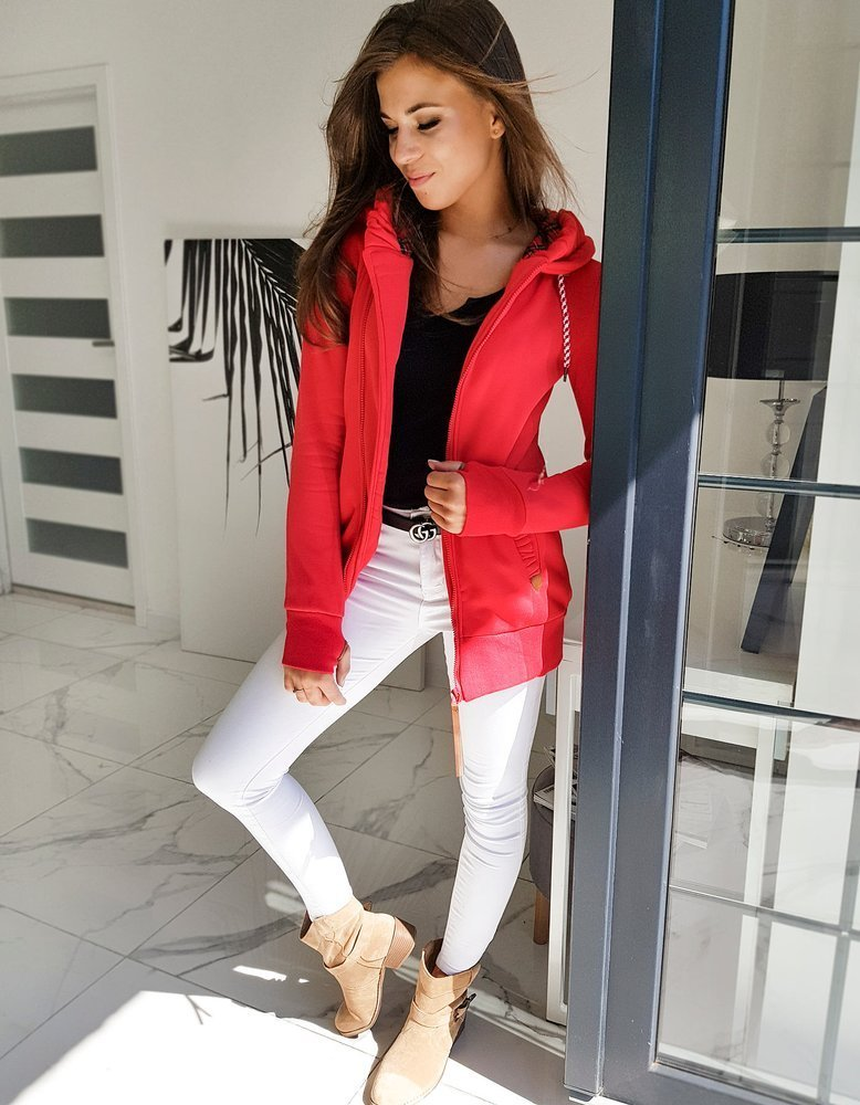 Bluza damska GIAGOS czerwona BY0592