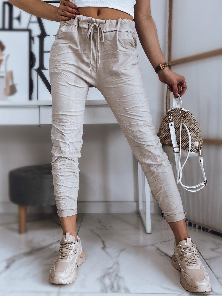 Spodnie damskie OLSENA beżowe UY0770