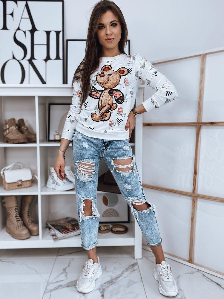Bluza damska BEAR biała Dstreet BY0870