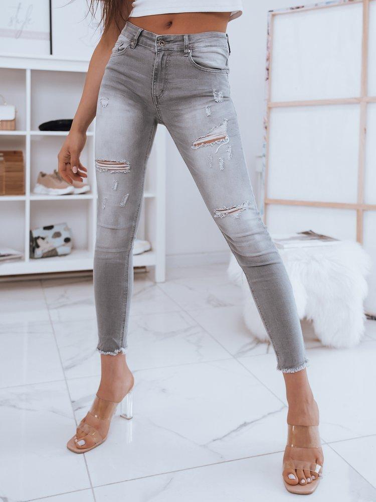 Spodnie damskie jeansowe SANDI szare Dstreet UY0843