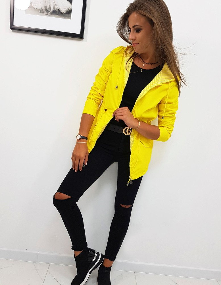 Dwustronna kurtka damska THERESA żółta (ty0630)