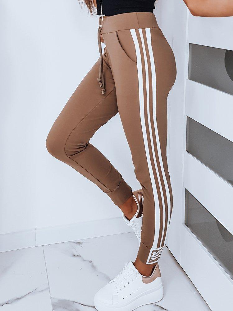 Spodnie dresowe damskie BELLA kamelowe UY0230