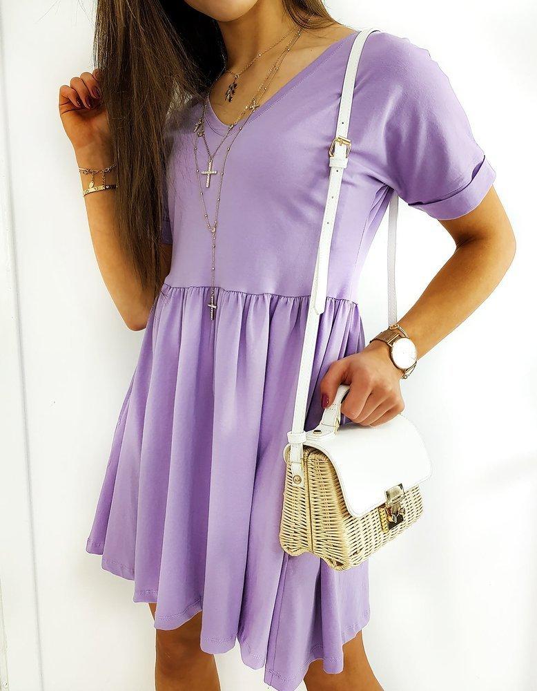 Fialové dámske šaty VERGIN EY1255