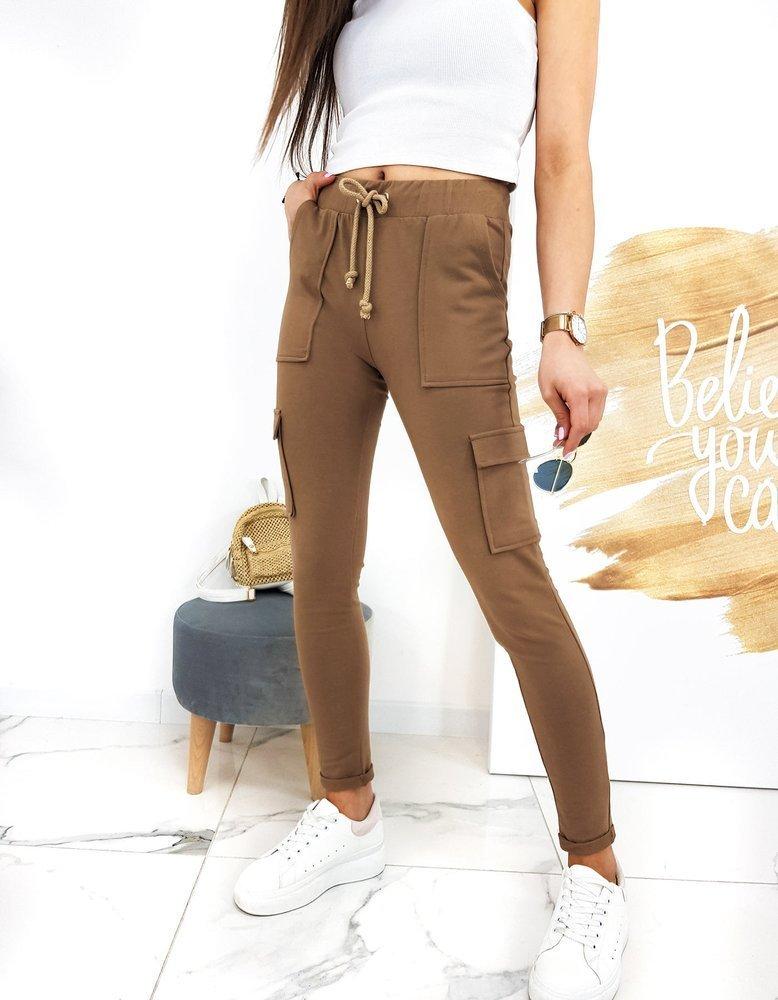 Spodnie damskie IVET kamelowe UY0527