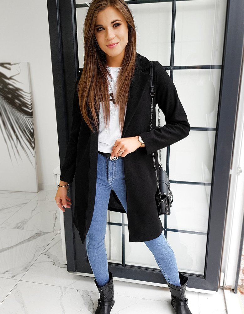 Płaszcz damski MODELLO czarny NY0352