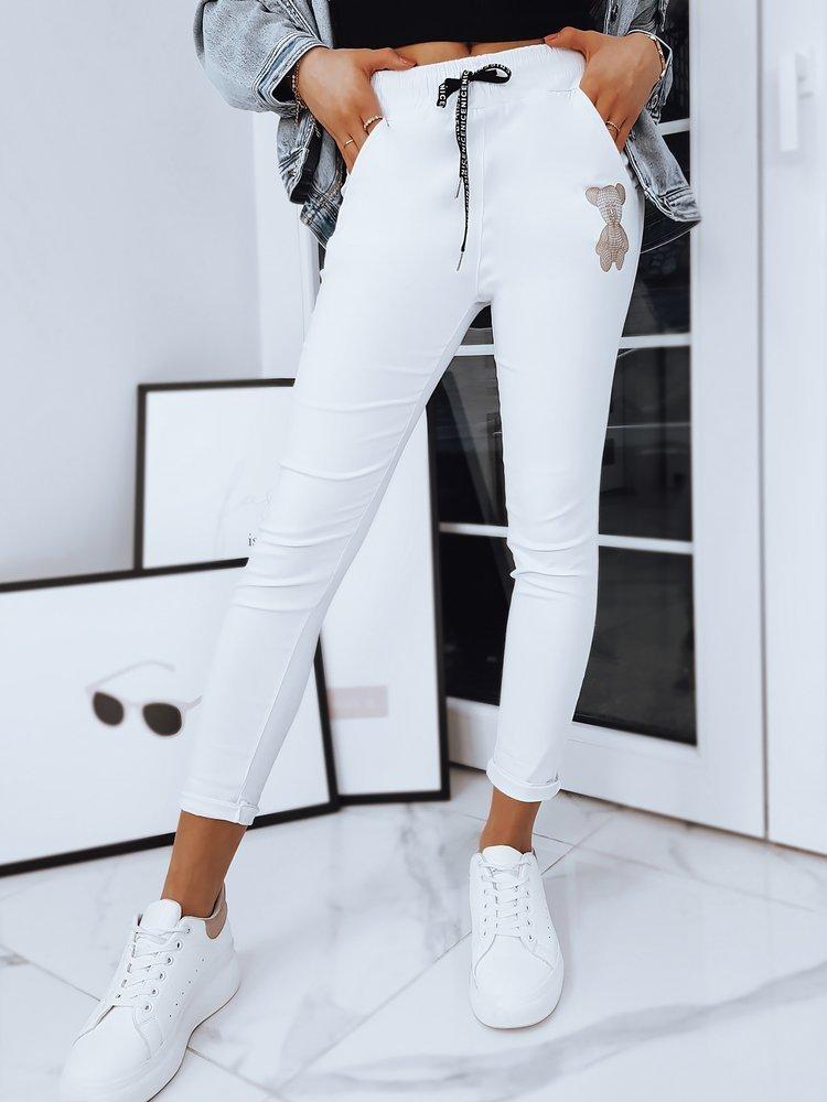 Spodnie damskie dresowe BEAR białe UY0760