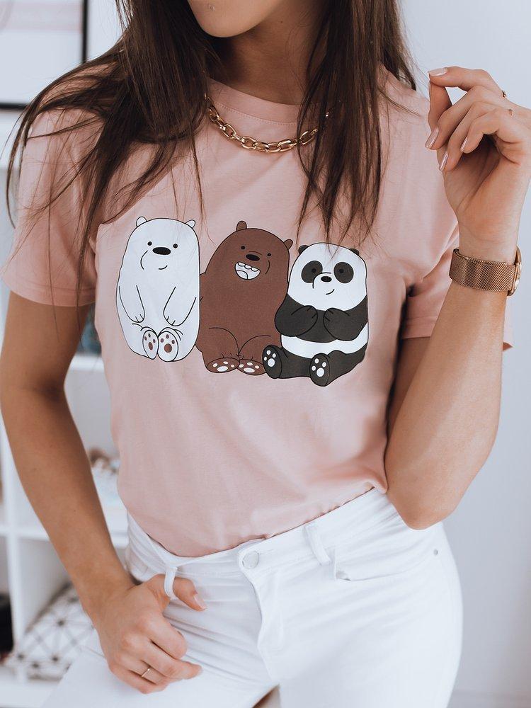 Ružové tričko CUTE s peknou potlačou.