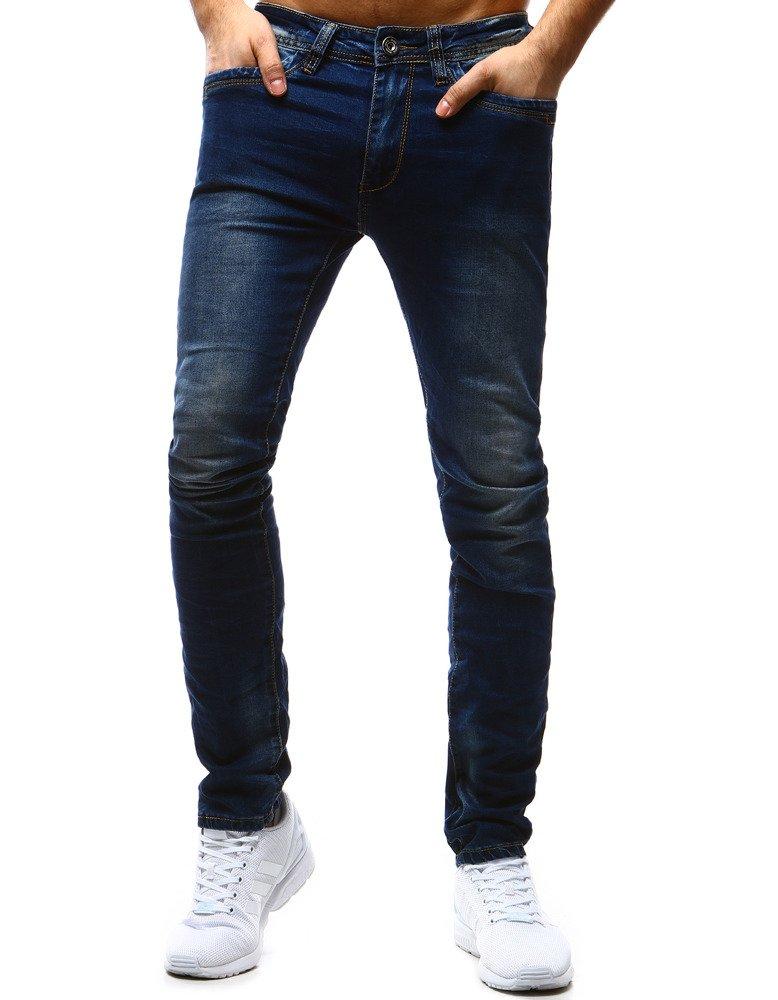 Spodnie jeansowe męskie niebieskie UX1190