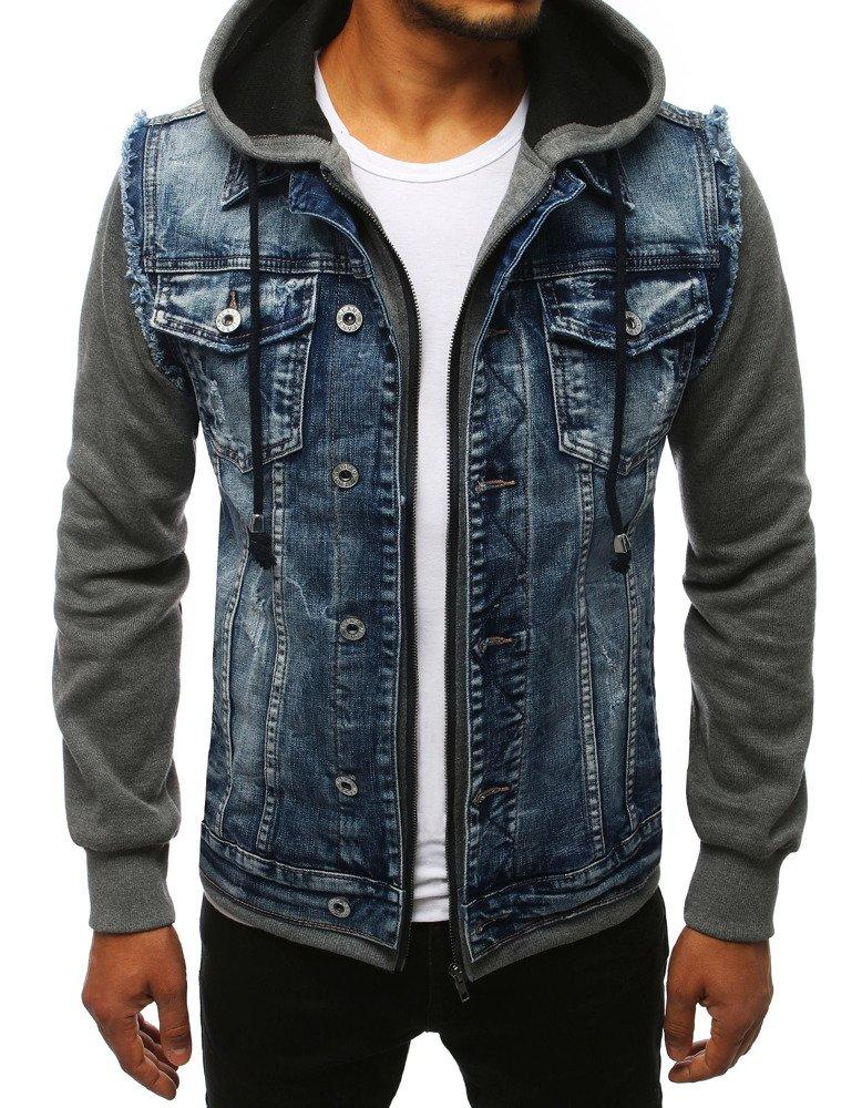 Modrá pánska džínsová bunda (tx2678)