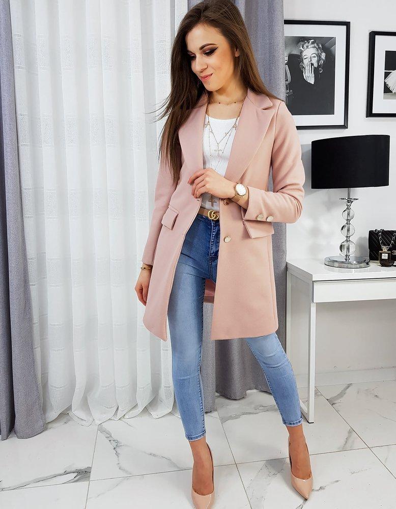 Płaszcz damski LESTER różowy NY0324
