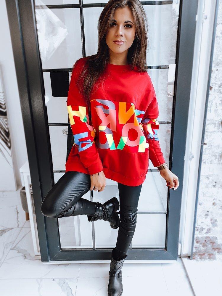 Bluza damska DIURANO czerwona BY0617