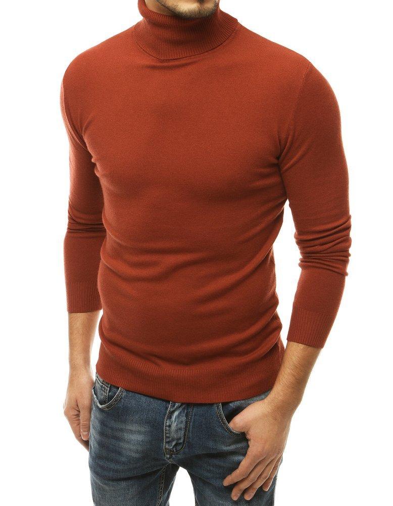 Hnedý pánsky rolákový sveter.