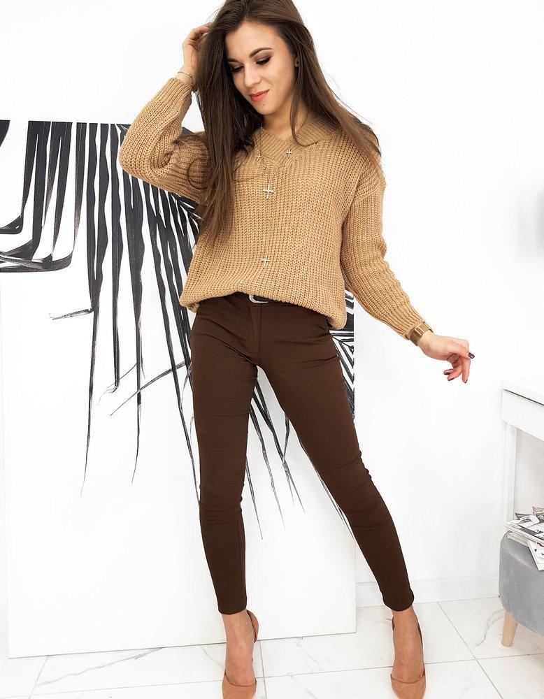 Sweter damski TOLEDO kamelowy MY0847