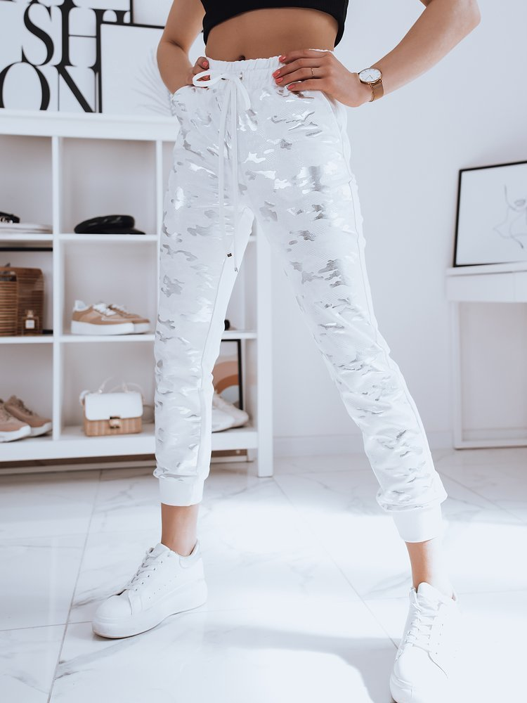 Spodnie damskie dresowe EVA ecru Dstreet UY0741