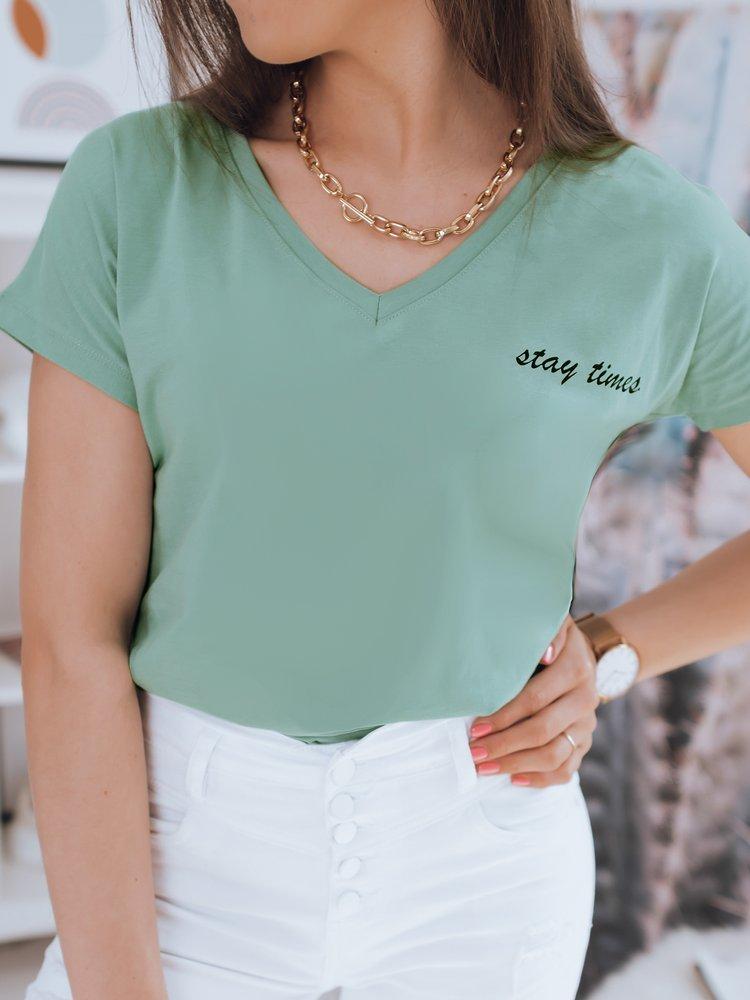 T-shirt damski STAY zielony Dstreet RY1589