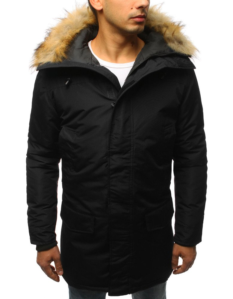 Čierna pánska zimná bunda (tx2437)