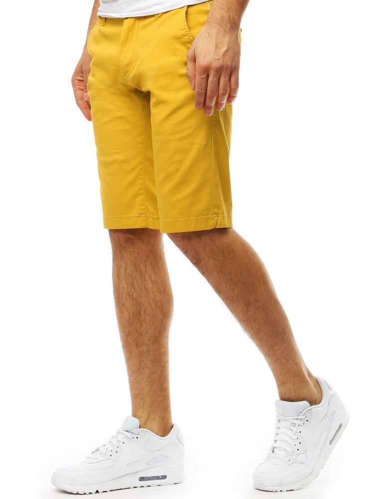 Šortky panské žlté